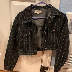 black jean crop jacket